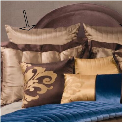 Fusion Euro Sham with Cord and Self Buttons (Set of 2)