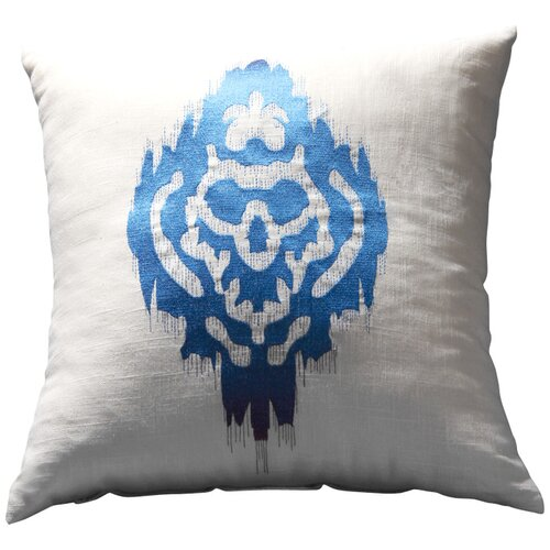 Sandy Wilson Ikat Embroidered Decorative Pillow II