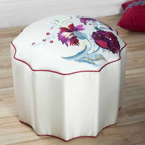 Sandy Wilson China Floral Ottoman