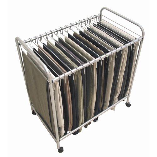 """Storage Dynamics 28"""" H x 15.75"""" W x 25.4"""" D Rolling Pants Trolley"""
