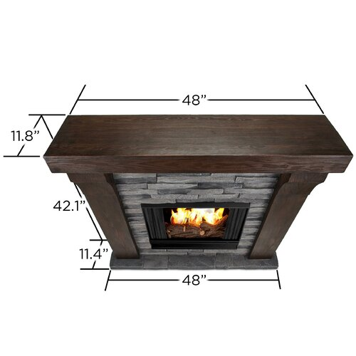 Real Flame Avondale Cast Mantel Gel Fuel Fireplace