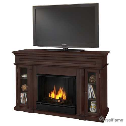 "Real Flame Lannon 51"" Ventless TV Stand with Gel Fuel Fireplace"
