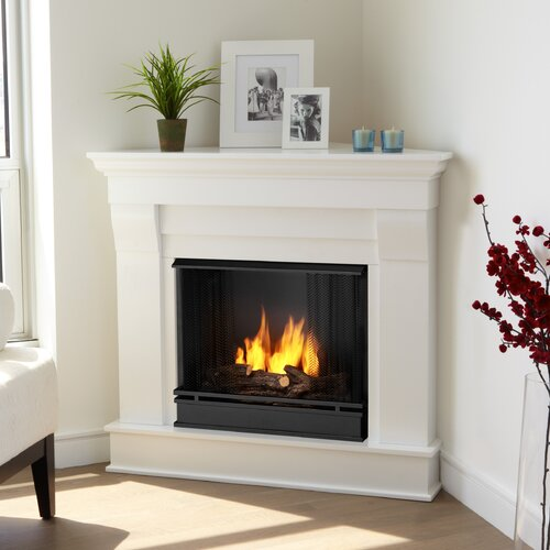 real flame chateau corner gel fuel fireplace reviews wayfair