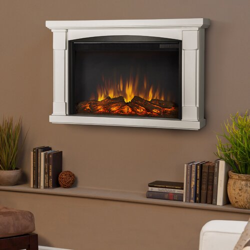 Real Flame Slim Brighton Wall Mounted Electric Fireplace ...