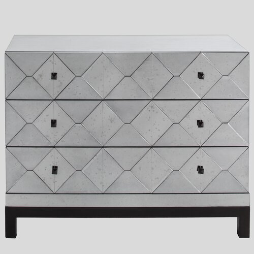 Brownstone Furniture Carlyle 3 Drawer Mirrored Dresser