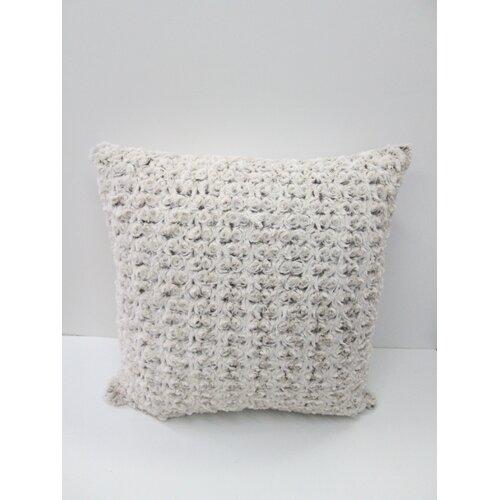 Rose Petal Faux Fur Pillow