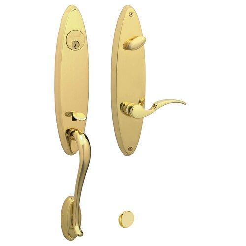 Schlage Venice Left Handing Handle Set with St. Annes Interior Lever