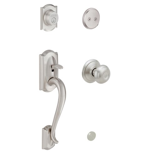 Schlage Georgian Camelor Handle Set with Dummy Style Interior Knob