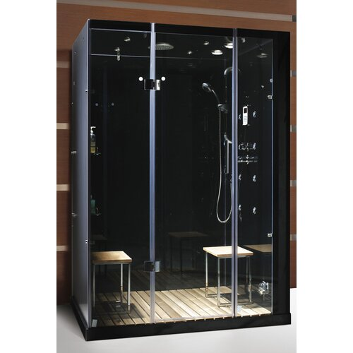Steam Planet Corp Personal Pivot Door Glass Steam Shower