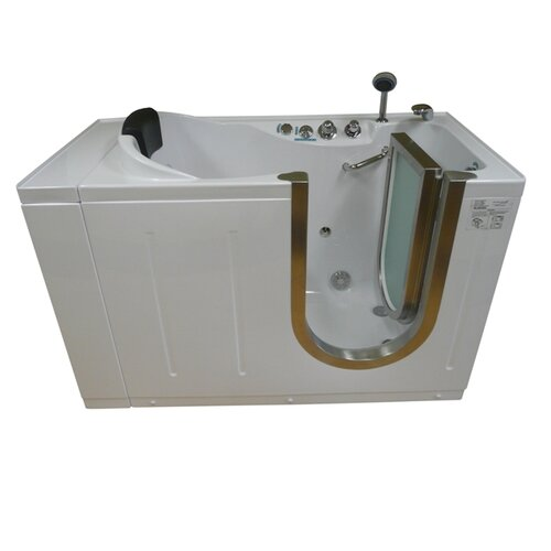 "Steam Planet Corp 59"" x 30"" Walk-In Tub with Heated Water and Air Jets System"