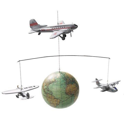 Authentic Models Around the World Mobile Sculpture