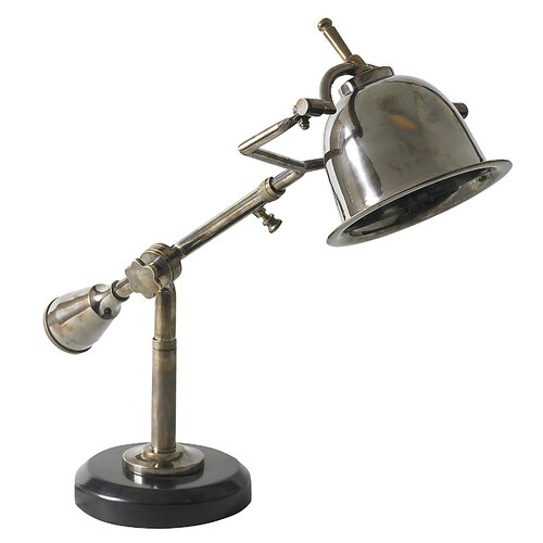 """Authentic Models Author's 16.1"""" H Table Lamp with Bell Shade"""
