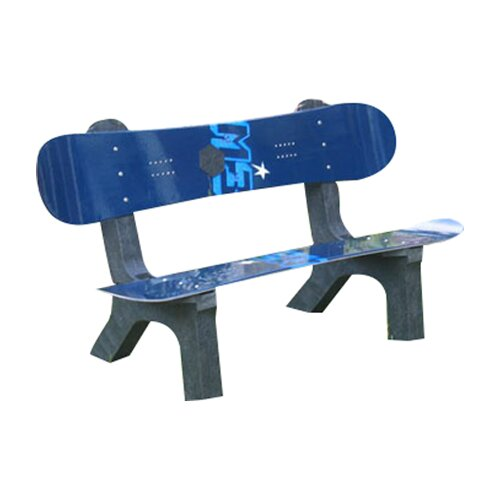 Ski Chair Snow Board Recycled Plastic Garden Bench