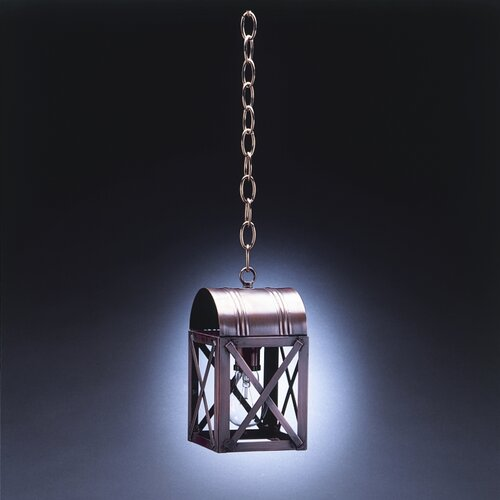 Northeast Lantern Adams Medium Base Sockets Culvert Top X-Bars 1 Light Hanging Lantern