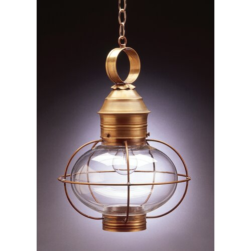 Northeast Lantern Onion Candelabra Sockets Caged 1 Light Hanging Lantern