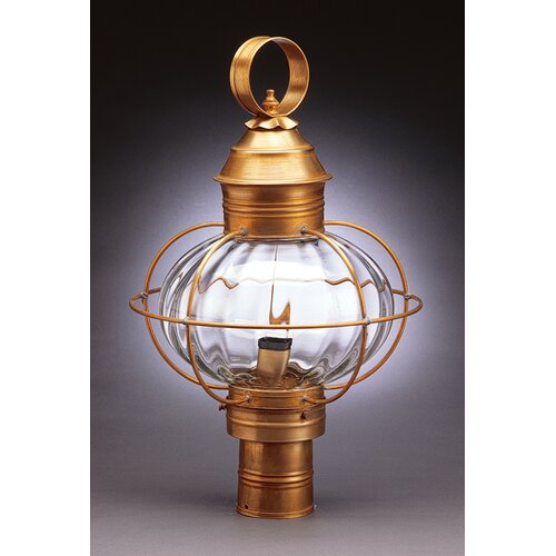 Northeast Lantern Onion 3 Light Caged Post Lantern