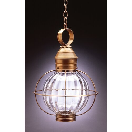 Northeast Lantern Onion Medium Base Sockets Caged Round 1 Light Hanging Lantern