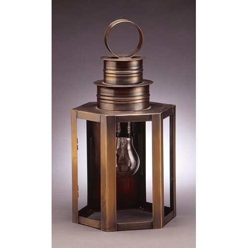 Northeast Lantern Hardwick Medium Base Socket Medium Hexagon Wall Lantern
