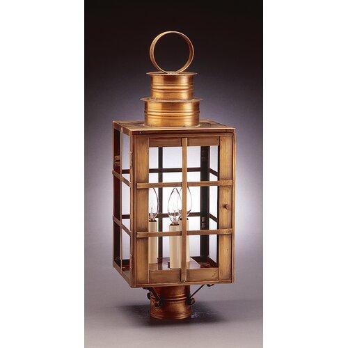 Northeast Lantern Suffolk 1 Light Chimney Can Top H-Bars Post Lantern