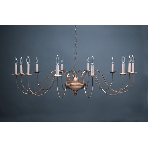 Chandelier 12 Light Candelabra Sockets S-Arms Hanging Chandelier