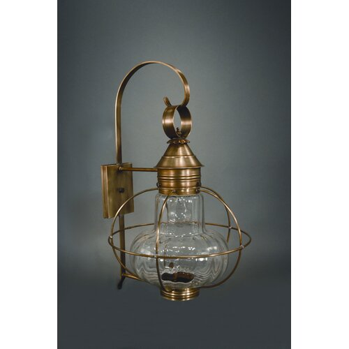 Northeast Lantern Onion Medium Base Socket Extended Scroll Wall Lantern