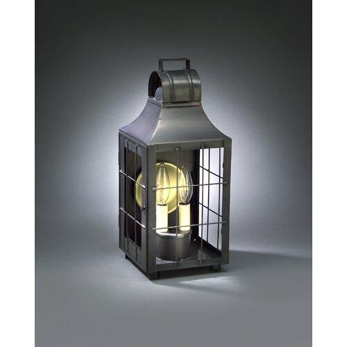 Northeast Lantern Livery 2 Candelabra Socket Culvert Top H-Rod Wall Lantern