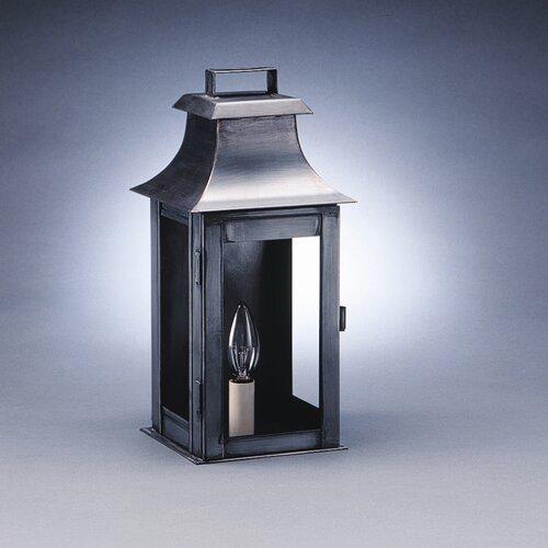 Northeast Lantern Concord 1 Candelabra Socket Pagoda Raised Top Wall Lantern