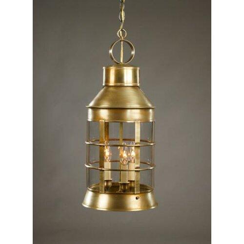 Northeast Lantern Nautical Medium Base Sockets 3 Light  Hanging Lantern