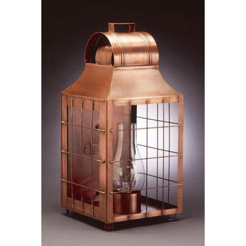 Northeast Lantern Livery 3 Candelabra Socket Culvert Top H-Rod Wooden Handle Wall Lantern