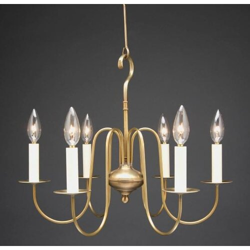 Chandelier 6 Light Candelabra Sockets S-Arms Hanging Chandelier