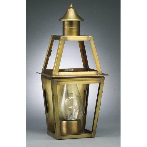 Northeast Lantern Uxbridge Medium Base Socket with Chimney Bracket Wall Lantern