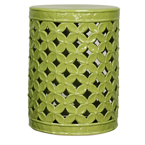 Green Ceramic Garden Stool Wayfair