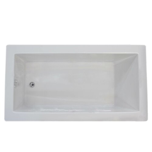 guadalupe 60 quot x 36 quot soaking bathtub wayfair