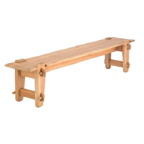Chalet Wood Entryway Bench