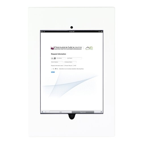 Premier Mounts Aluminum Cast iPad Wall Frame Mount