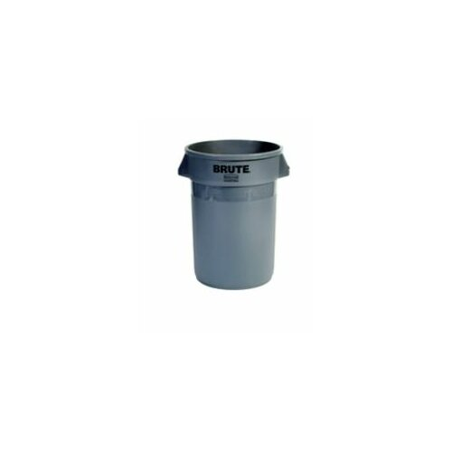 Rubbermaid Commercial Products Brute® Round Containers - 32gal brute container w/o lid trash can gray