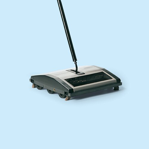 Rubbermaid Commercial Products Manual Brushless Mechanical Sweeper in Black