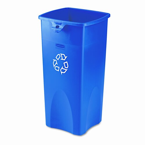 Rubbermaid Commercial Products Untouchable® Square 23 Gallon Curbside Recycling Bin