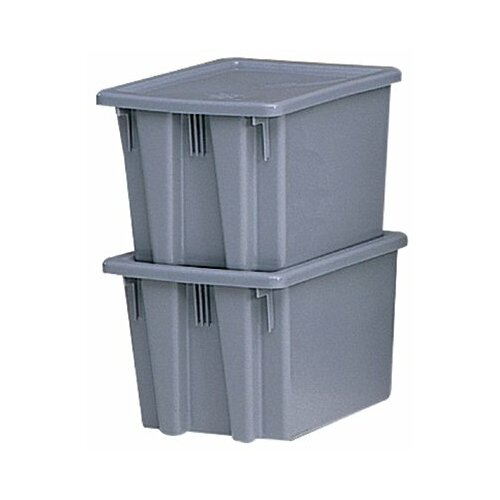 Rubbermaid Commercial Products Stack & Nest Palletote Box Lids Palletote Lid: 640-1720-Gray - palletote lid