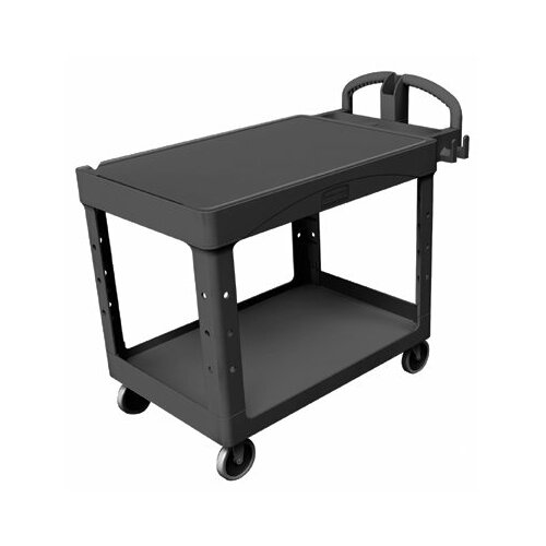 Rubbermaid Commercial Products Rubbermaid Commercial - Heavy-Duty Flat Shelf Utility Carts Hd Flat 2 Shelf Utilitycart Large: 640-4545-Bla - hd flat 2 shelf utilitycart large