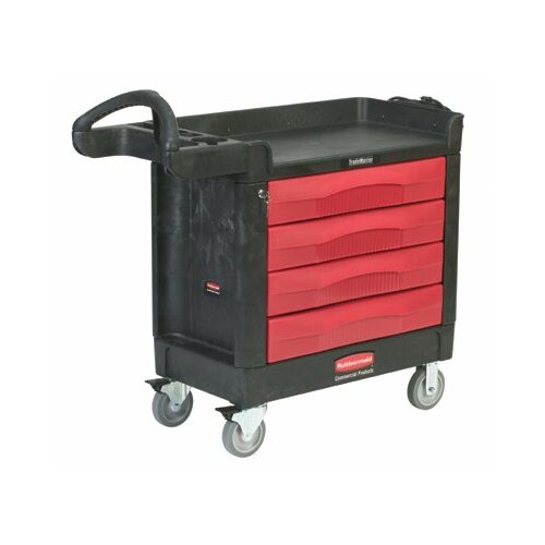 Rubbermaid Commercial Products TradeMaster® Professional Contractor Carts - 4 drawer cart