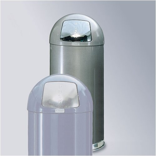 Rubbermaid Commercial Products Silver Metallic Round Top Receptacle