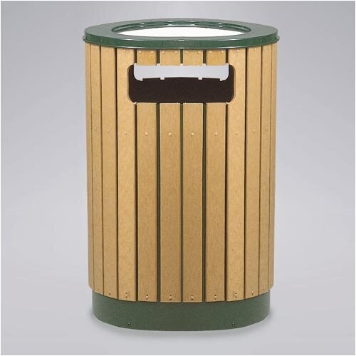 Rubbermaid Commercial Products Regent 50 Series 40 Gal. Round Sand Top Ash/Trash Receptacle