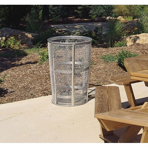Rubbermaid Commercial Products Americana Series 48 Gal. Galvanized Street Basket