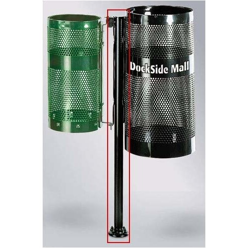 Rubbermaid Commercial Products Howard Towne Black Surface Mount Pole with Hardware