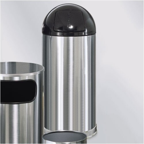 Rubbermaid Commercial Products Metallic Designer 15 Gal. Round Top Waste Receptacle