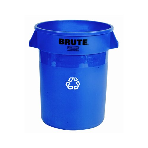 Rubbermaid Commercial Products Brute Recycling Container in Blue