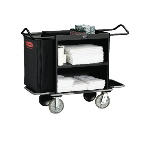 """Rubbermaid Commercial Products 44"""" High-Capacity Housekeeping Cart"""