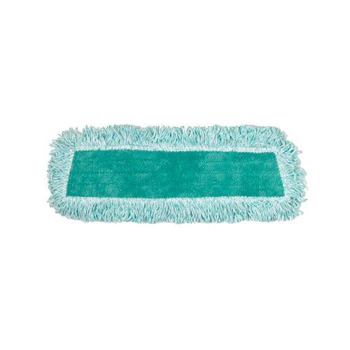 Rubbermaid Commercial Products Dust Microfiber Mop Heads with Fringe Cut-End in Green