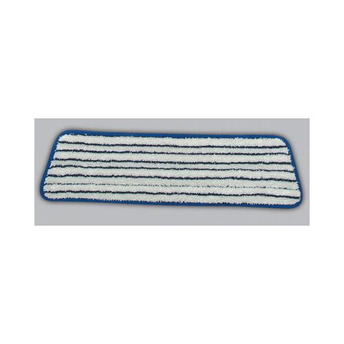 "Rubbermaid Commercial Products 18"" Microfiber Finish Pad in Blue / White"